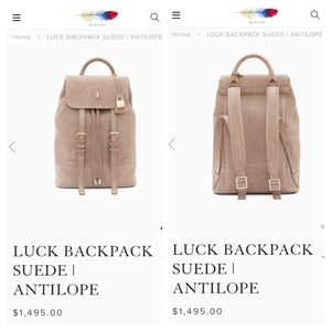 Buscemi luck Backpack suede antilope $1495+tax